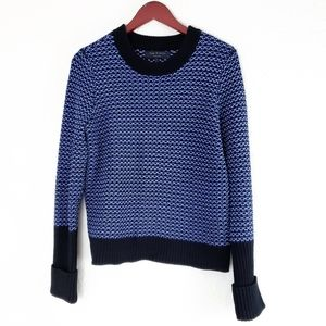 Rag & Bone Knit Sweater Blue Pullover SZ Medium